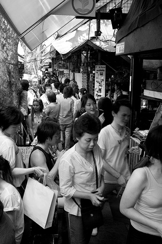 busy chatuchak weekend market, bangkok