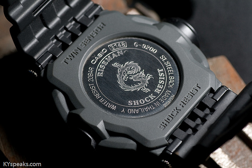 Casio G-Shock Riseman G-9200 case back