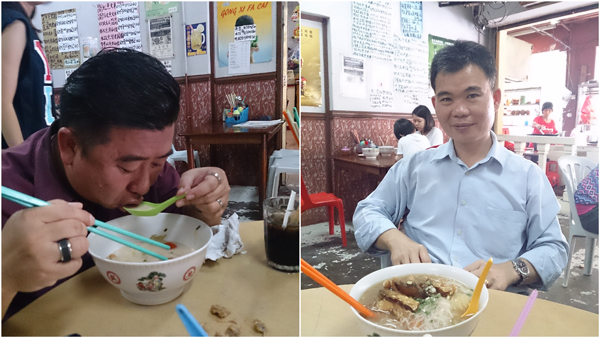 these guys ordered the big bowls at RM 16 each, normal portion is RM 10