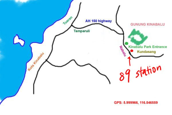 map to 89 station, Kundasang