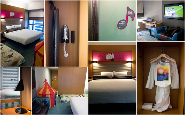 our room for the weekends at Aloft KL