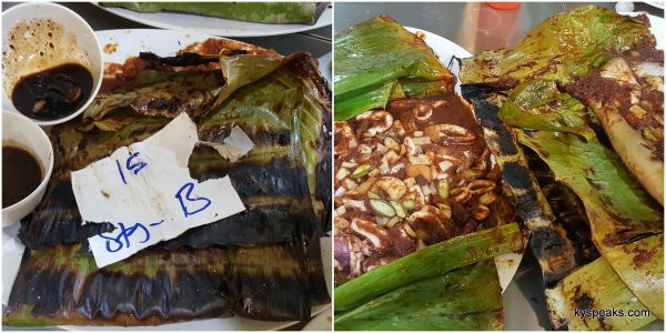 all wrapped up in banana leaf, the only way!