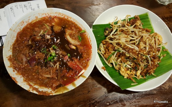 asam laksa is good, and char kuih teow more than decent