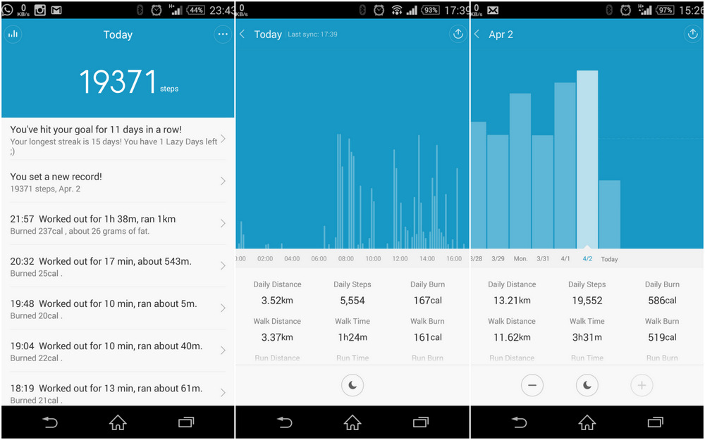 mi band as a pedometer