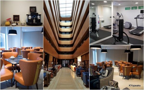 executive lounge & the gym at Dorsett Sheperd's Bush