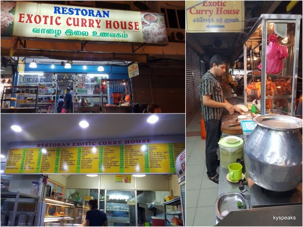 Exotic Curry House, at Little India, Klang