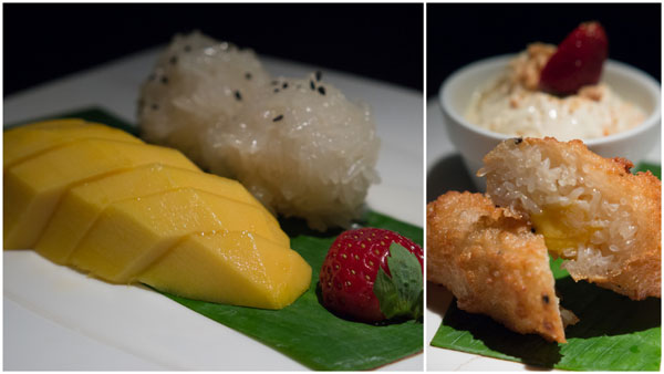 Thai desserts at Fa Ying