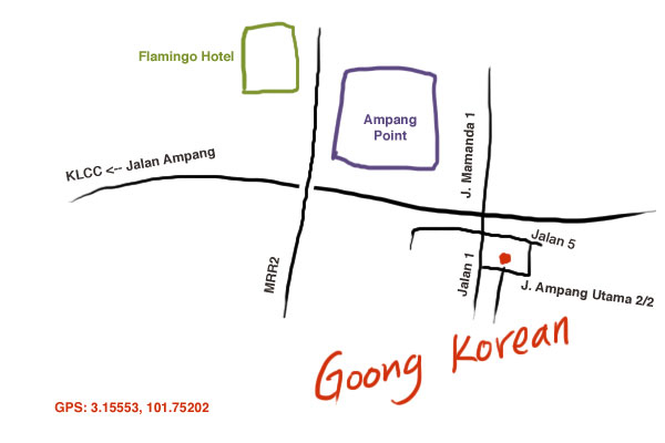 map to Goong Korean Restaurant, Ampang