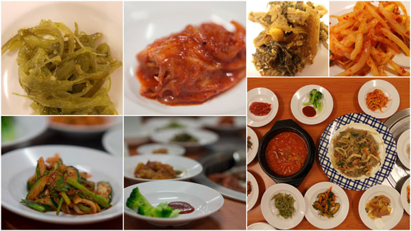 wide selection of banchan to go around