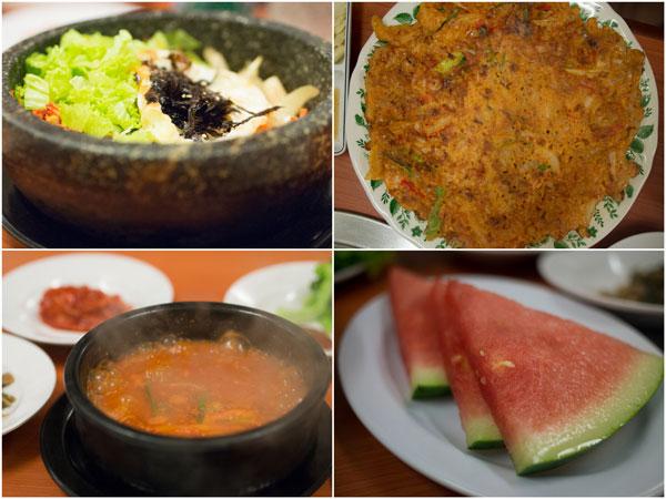 bibimbap, Kimchi Jeon (pancake), Kimchi Jigae
