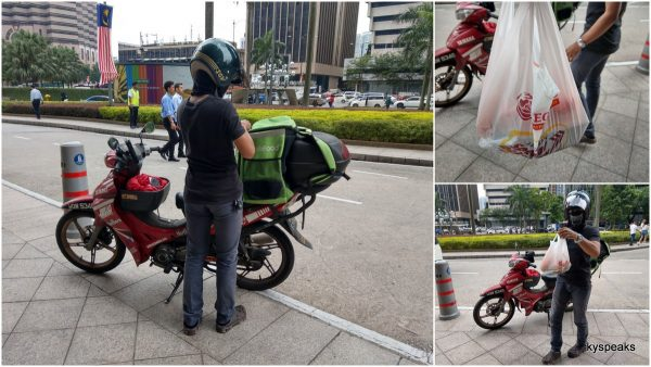 GrabFood delivery service at KL