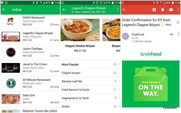GrabFood - ordering is easy as 1-2-3