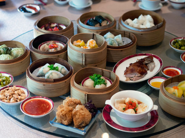 our dimsum spread, of course to be shared