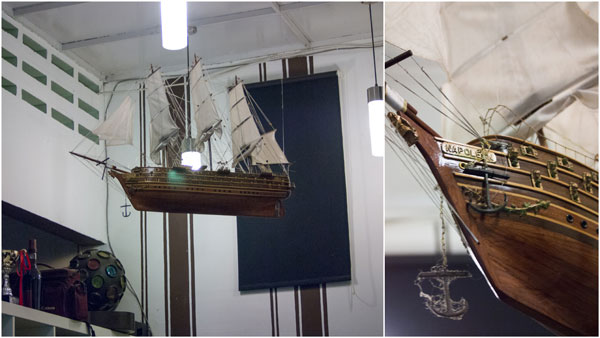 model ship brought from Vietnam