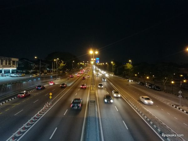 traffic at night, Huawei P9