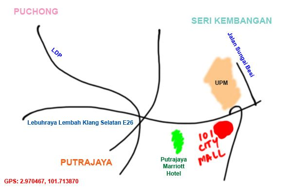 map to IOI city mall