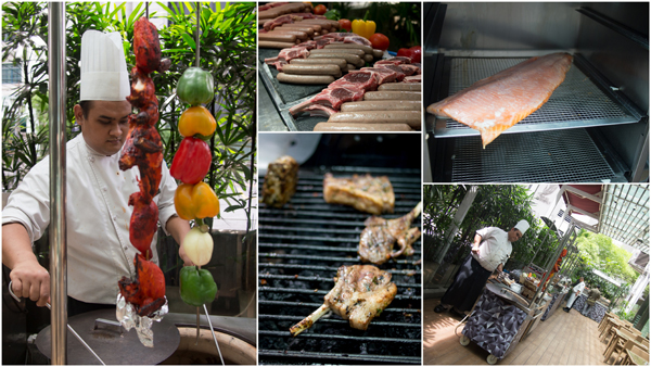 BBQ meat & sausage, tandoori chicken, smoked salmon