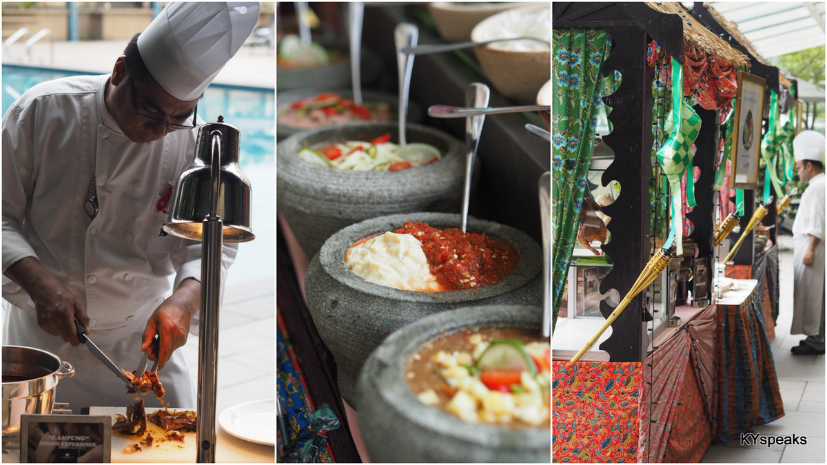 "JW Marriott's ""Kampung Dining Experience"" by the poolside"