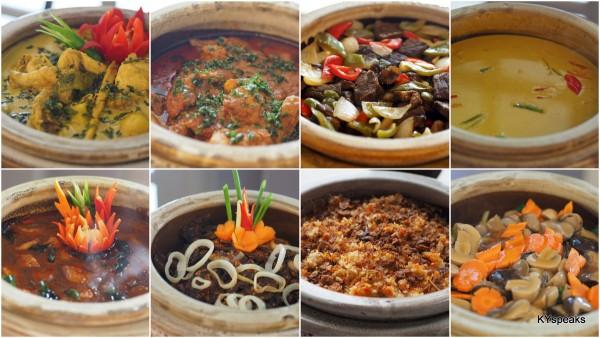 ayam lemak cili padi, rendang ayam, black pepper beef, ikan masin talang masak lemak, panjeri nanas, paru goreng, nasi briyani, Chinese mix vege