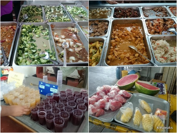 very big selection of vegetarian food, including fruits & drinks