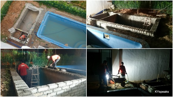 construction of the fish pond