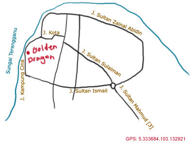 map of Kuala Terengganu Chinatown