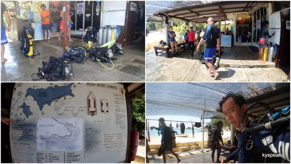 Aqua Sport Divers, the only dive center at Pulau Kapas