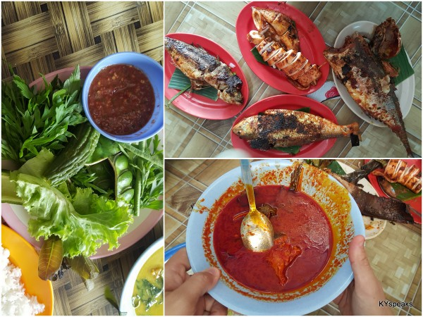 asam pedas with stingray (bottom right) was one of my favorites