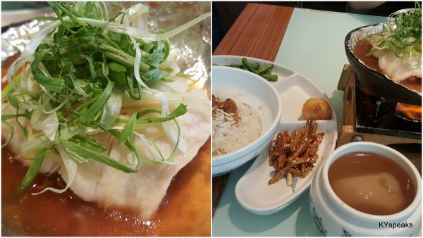 steamed fish with pineapples & Taiwan marinated sweet bean (RM 23.80)
