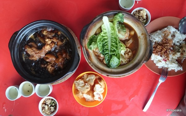 claypot bak kut teh & pork trotter with vinegar