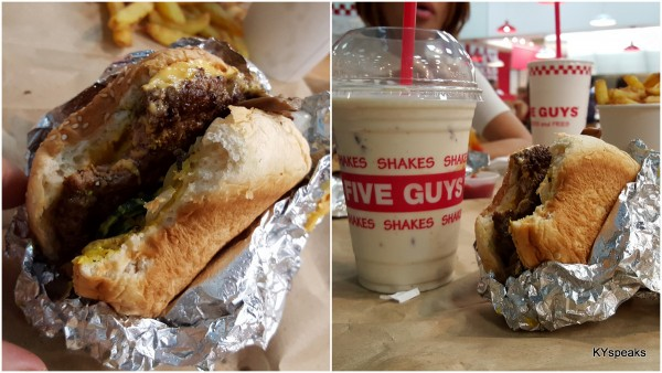 ermm.. cheeseburger, and bacon infused milk shake