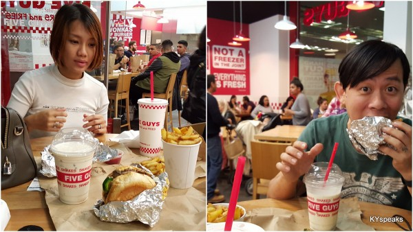 Haze & KY at Five Guys, Westfield London