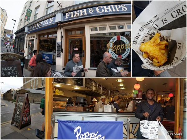fish and chips at Poppies, listed as Time Out's top 100 foods in Londonfish and chips at Poppies, listed as Time Out's top 100 foods in London