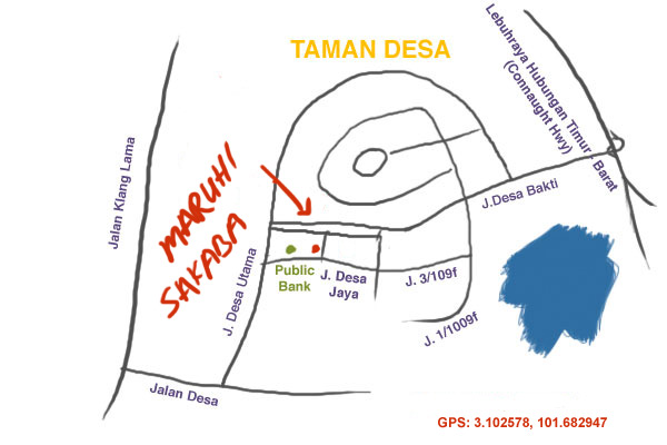 map to Maruhi Sakaba at Taman Desa