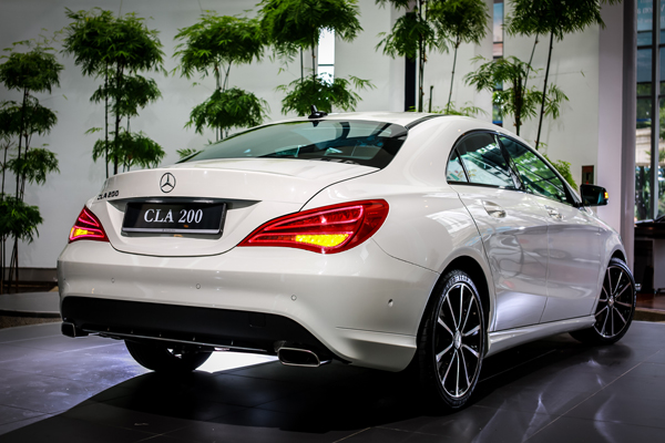 rear view of Mercedes-Benz CLA 200