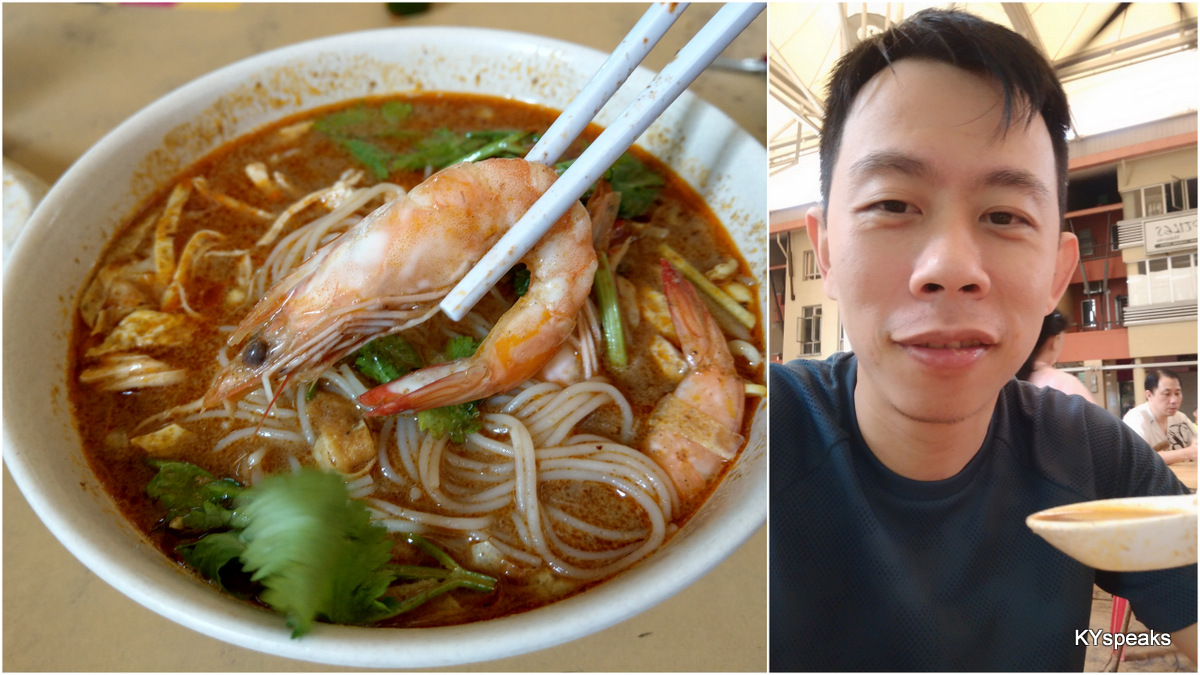 proper Sarawak Laksa, with decent size prawns too