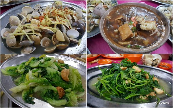 lala, claypot seafood tofu & vegetable dishes