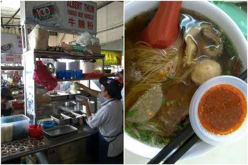 yummy beef noodle, one of the underrated stalls here