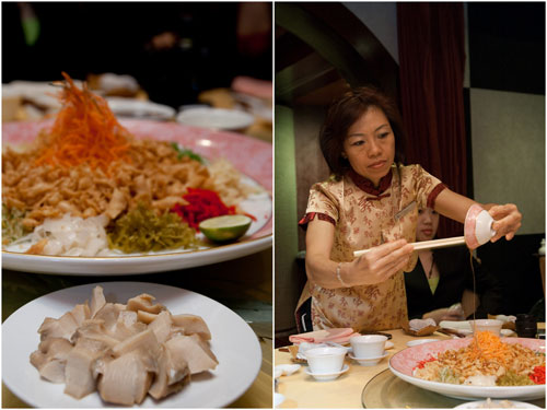 another yee sang ritual, this time with abalone