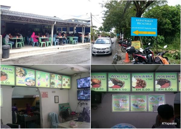 Kedai Makan Pecel Lele, Padang Jawa