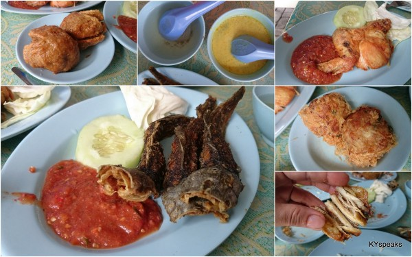 berbola, pecal lele, ayam penyet, and those sambal!