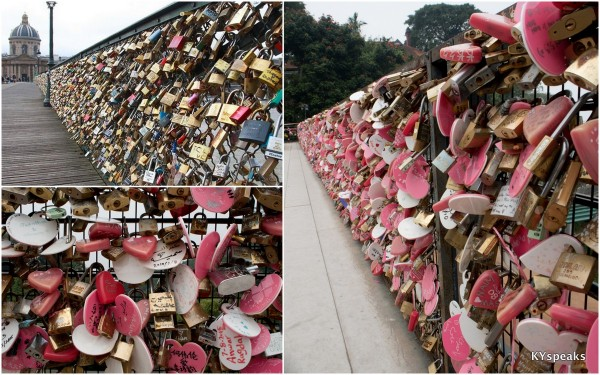 Pont des Arts at Paris, and Penang Hill love locks