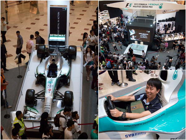 Mercedes AMG PETRONAS Formula 1 showcase at KLCC
