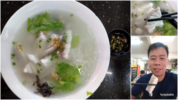 comfort food with fresh fish in soup and noodle