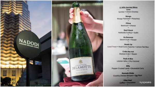 Salmon and Delamotte Champange tasting dinner at Nadodi KL