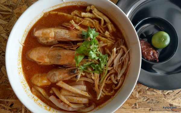 Special version of Sarawak Laksa with extra prawns & cuttlefish