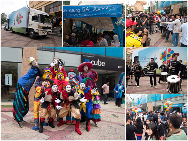 great fan fare at Samsung Galaxy S4 launch, Sunway Pyramid