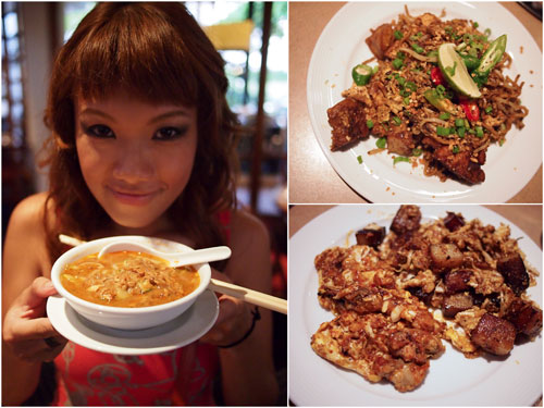Haze loves the asam laksa, mee goreng, fried oyster and char kuih kak