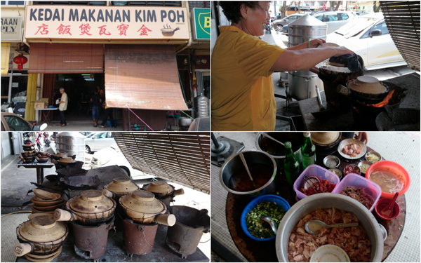 Kim Poh claypot chicken rice at Segambut