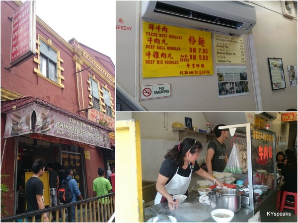 Shin Kee beef noodle near Petaling Street